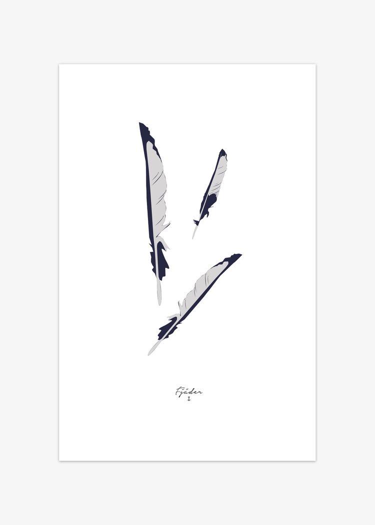 """Product image for """"Poster Fjäder"""""""