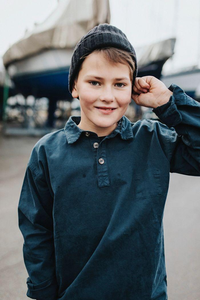 """Product image for """"Fiskarskjorta Barn Marinblå"""""""