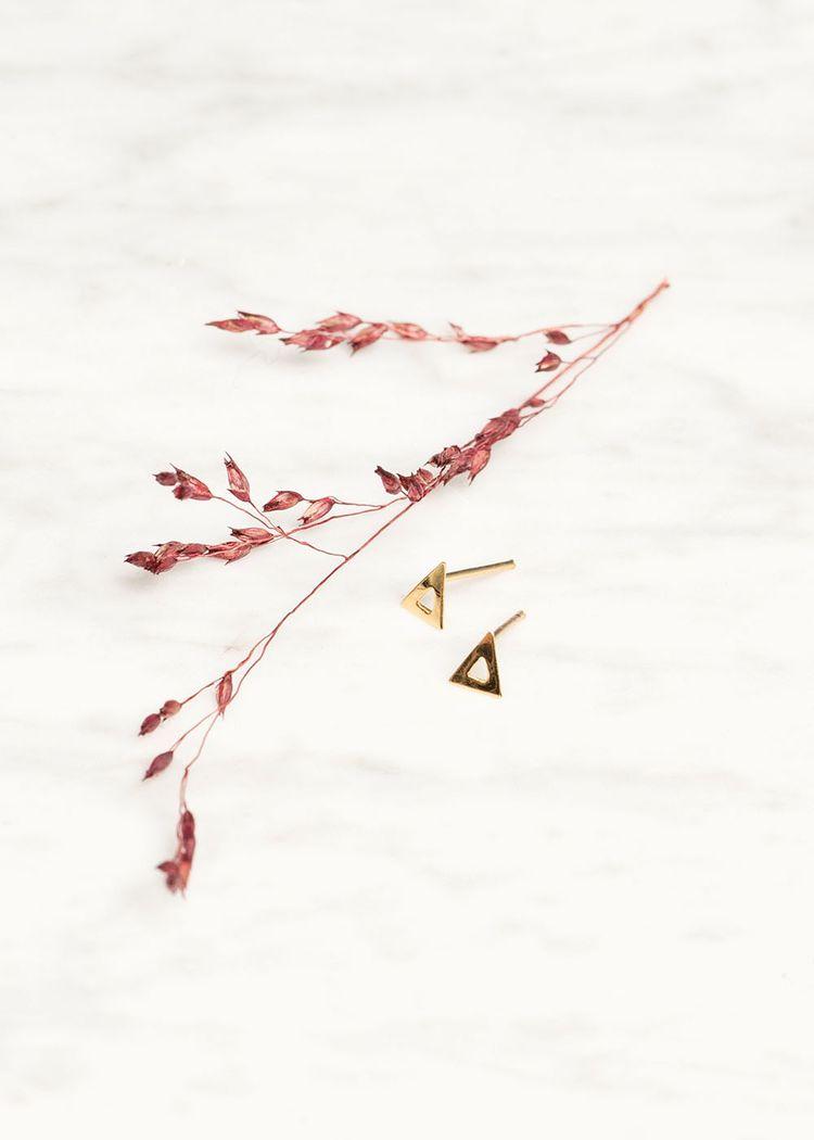 "Product image for ""Örhänge Triangel Guld"""