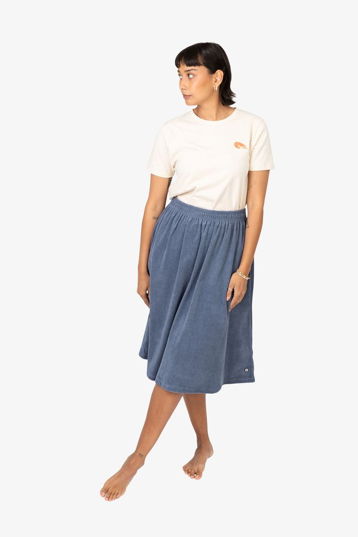 """Product image for """"Tanni Skirt Terry Petrol"""""""