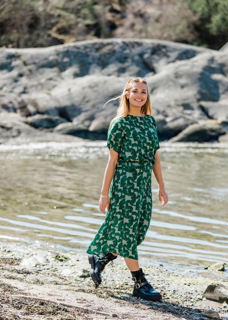 "Secondary product image for ""Jenna Kjol Mareld Grön"""