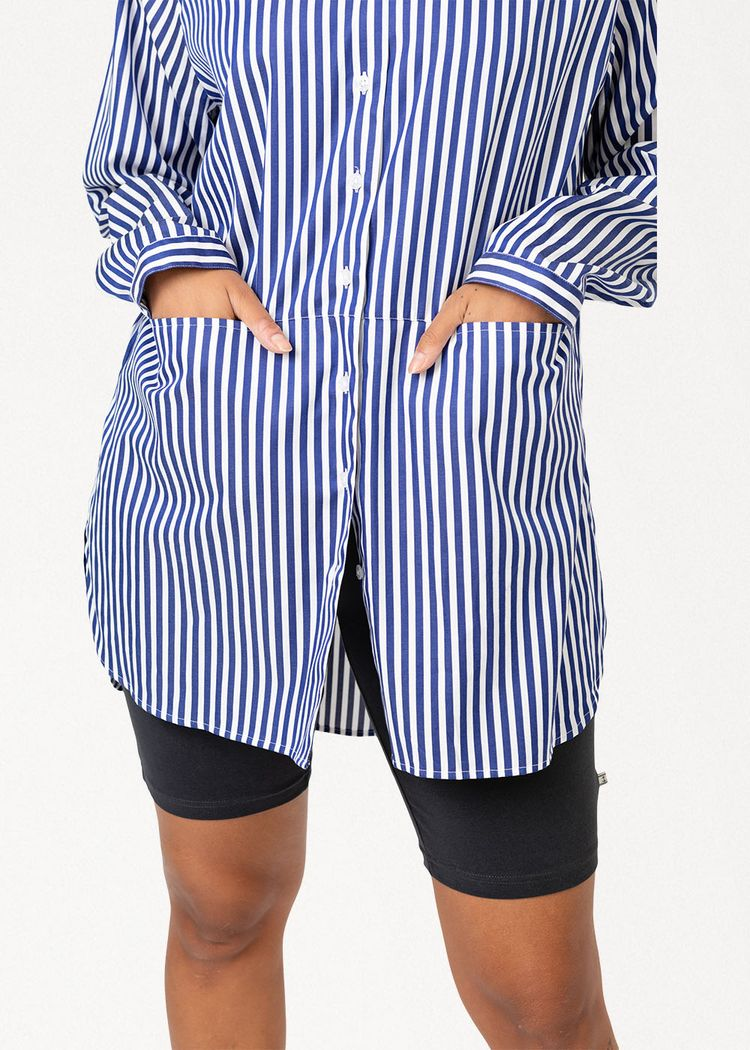 """Secondary product image for """"Emma Shirt Stripe Navy"""""""
