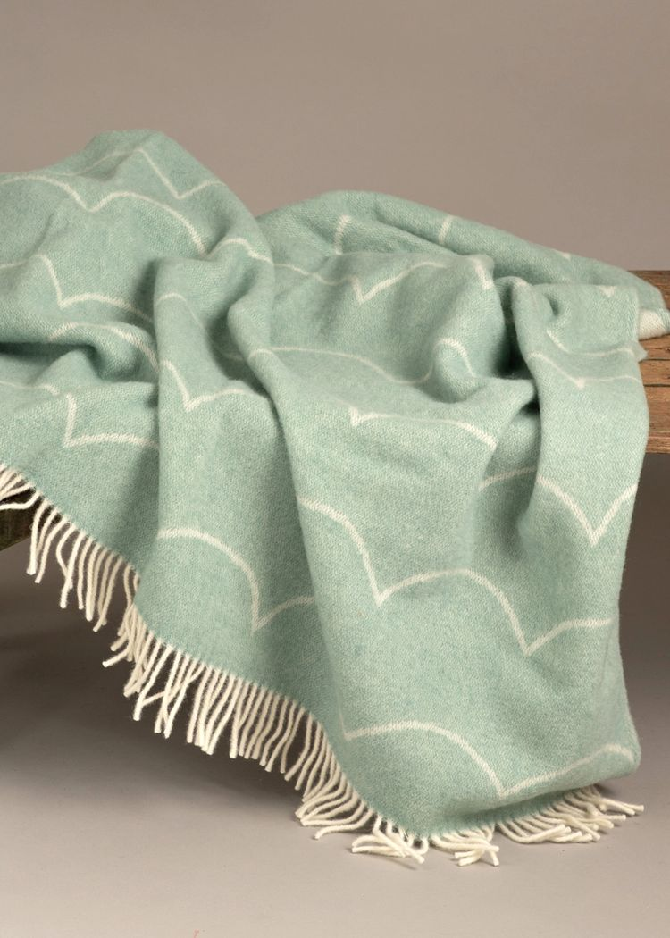 """Product image for """"Wool Blanket Wave Green"""""""