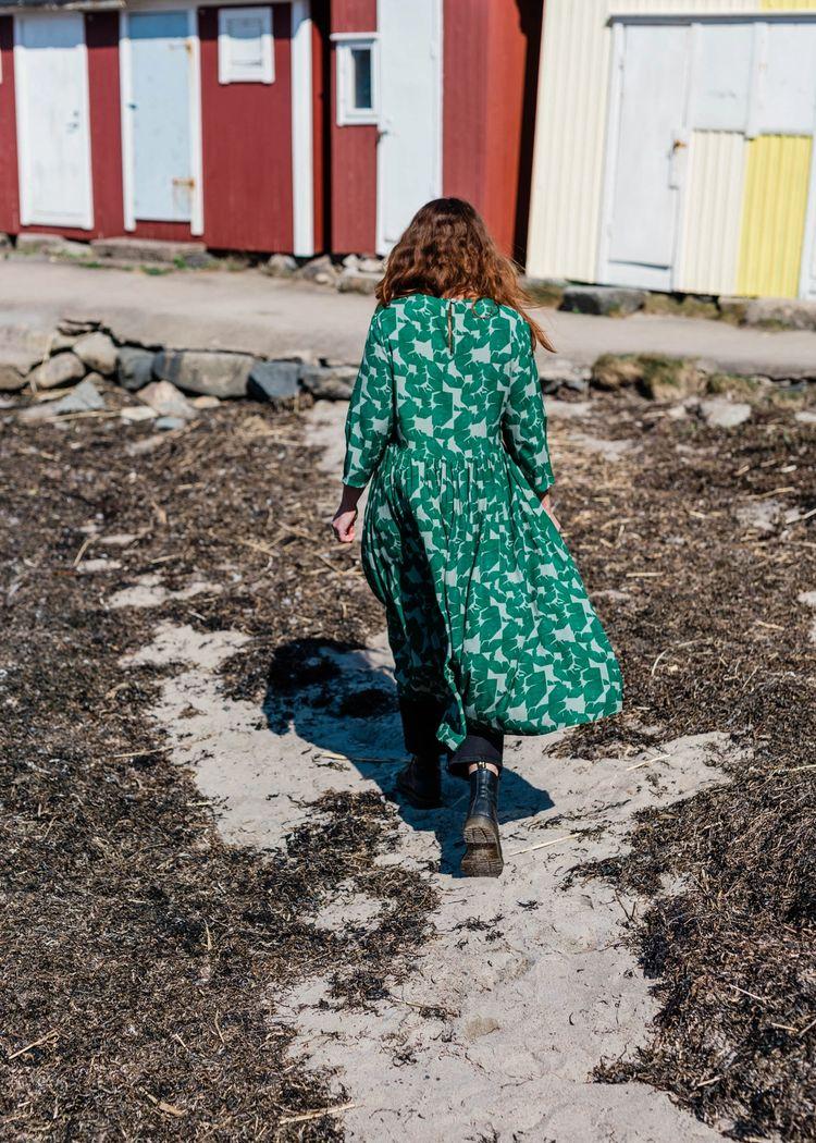 """Secondary product image for """"Minna Klänning Mareld Grön"""""""