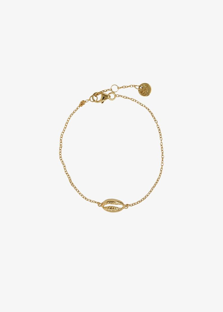 "Product image for ""Armband Snäcka Strand Guld"""