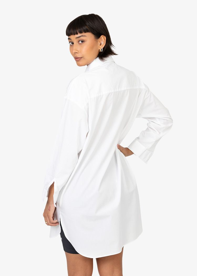 "Secondary product image for ""Frida Shirt Poplin White"""