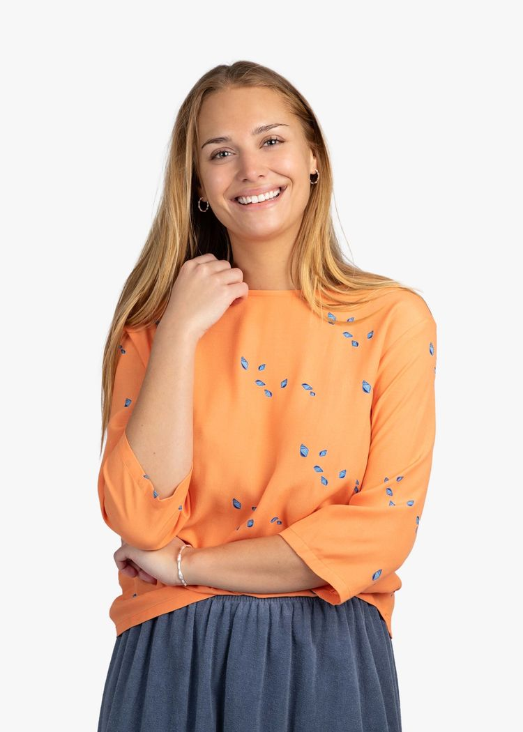 """Product image for """"Laura Blouse Mini Shell Peach"""""""