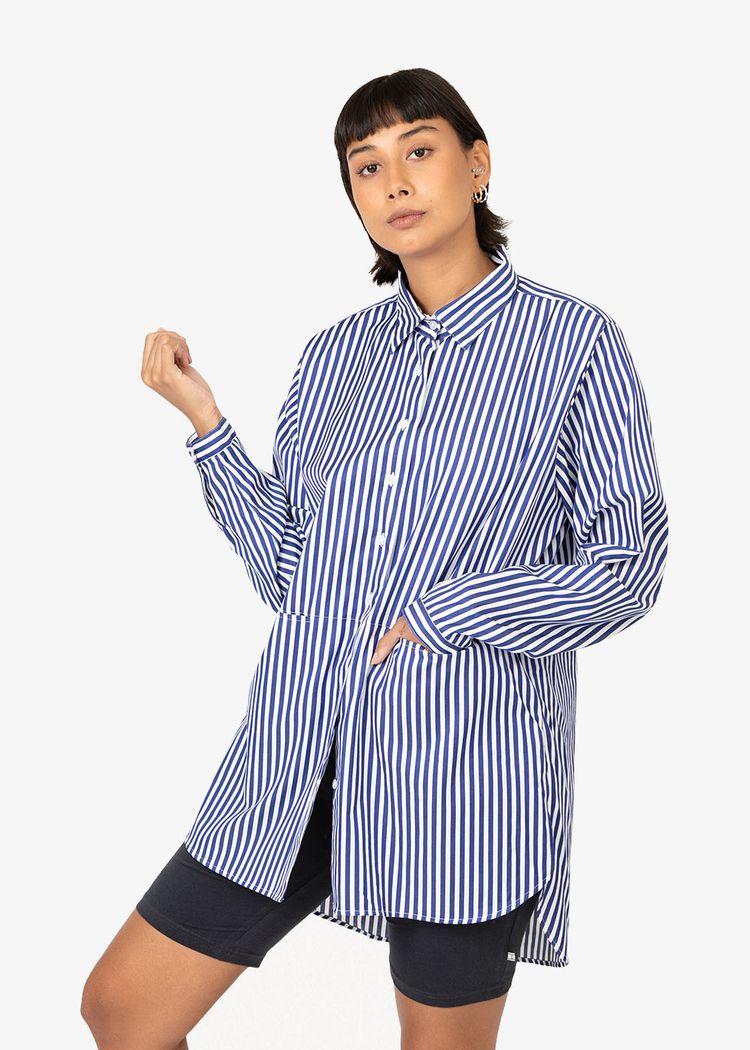 "Product image for ""Emma Shirt Stripe Navy"""