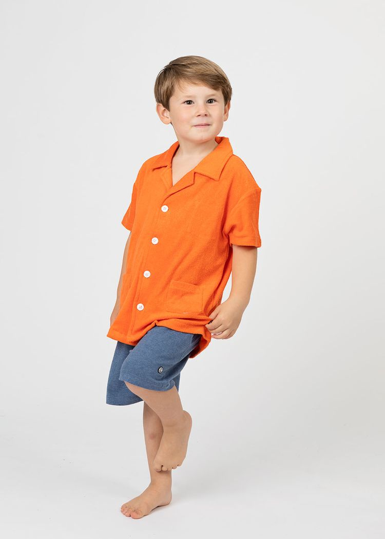 "Product image for ""Frottéskjorta Barn Orange"""