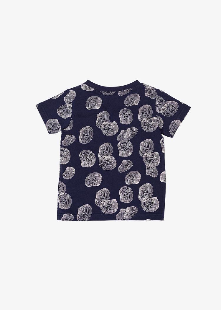 "Secondary product image for ""T-shirt Barn Snäcka Marinblå"""