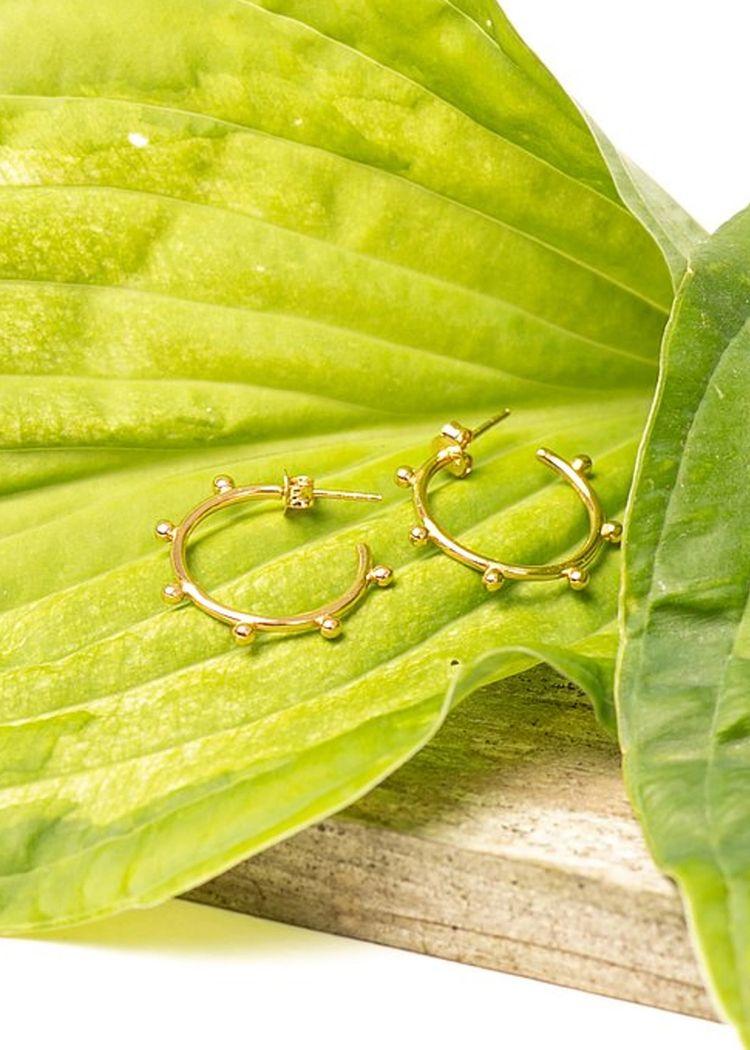 """Secondary product image for """"Örhänge Cirkel Ploppar Guld"""""""