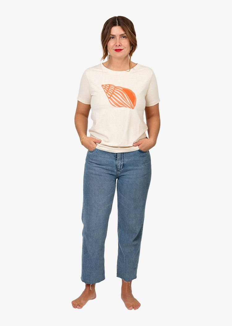 """Secondary product image for """"Mil T-shirt Snäcka Off-white"""""""