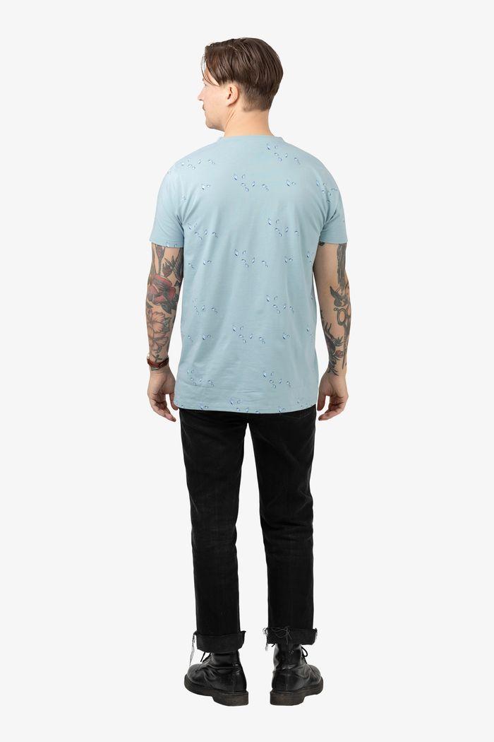"""Secondary product image for """"T-shirt Mini Snäcka Granitblå"""""""