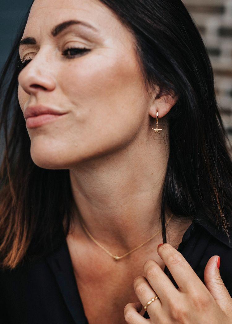 """Secondary product image for """"Örhänge Sjöstjärna Ring Guld"""""""
