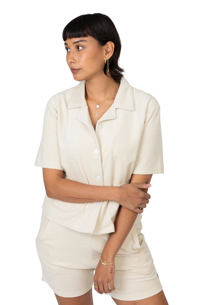 """Product image for """"Tirri Terry Blouse Off-white"""""""