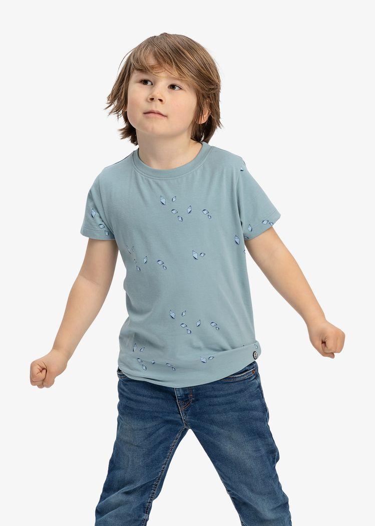 "Product image for ""T-shirt Barn Mini Snäcka Granitblå"""