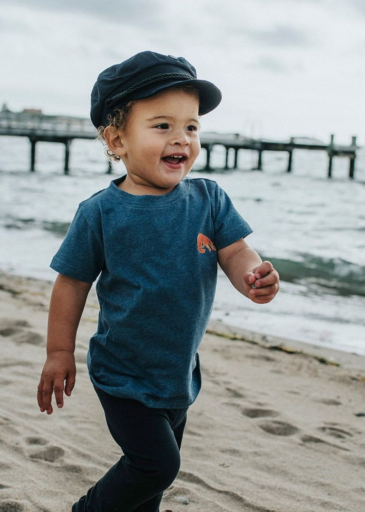 "Product image for ""T-shirt Barn Räka Blå"""