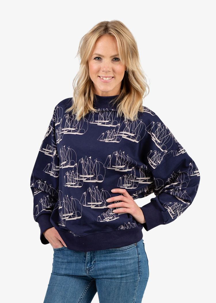 """Product image for """"Wilma Sweater Linjespel"""""""