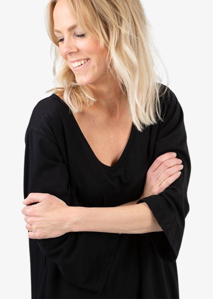 """Secondary product image for """"Ofilia Klänning Hummer Svart"""""""