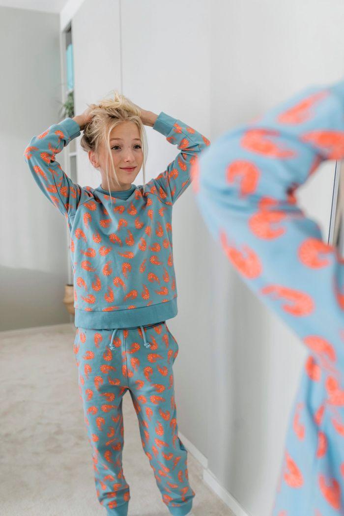 """Secondary product image for """"Tröja Barn Räka Granitblå"""""""
