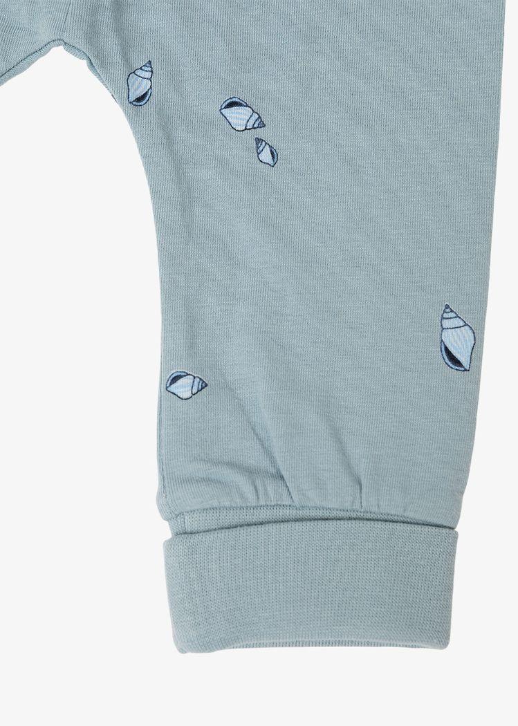 "Secondary product image for ""Tights Baby Mini Snäcka Granitblå"""