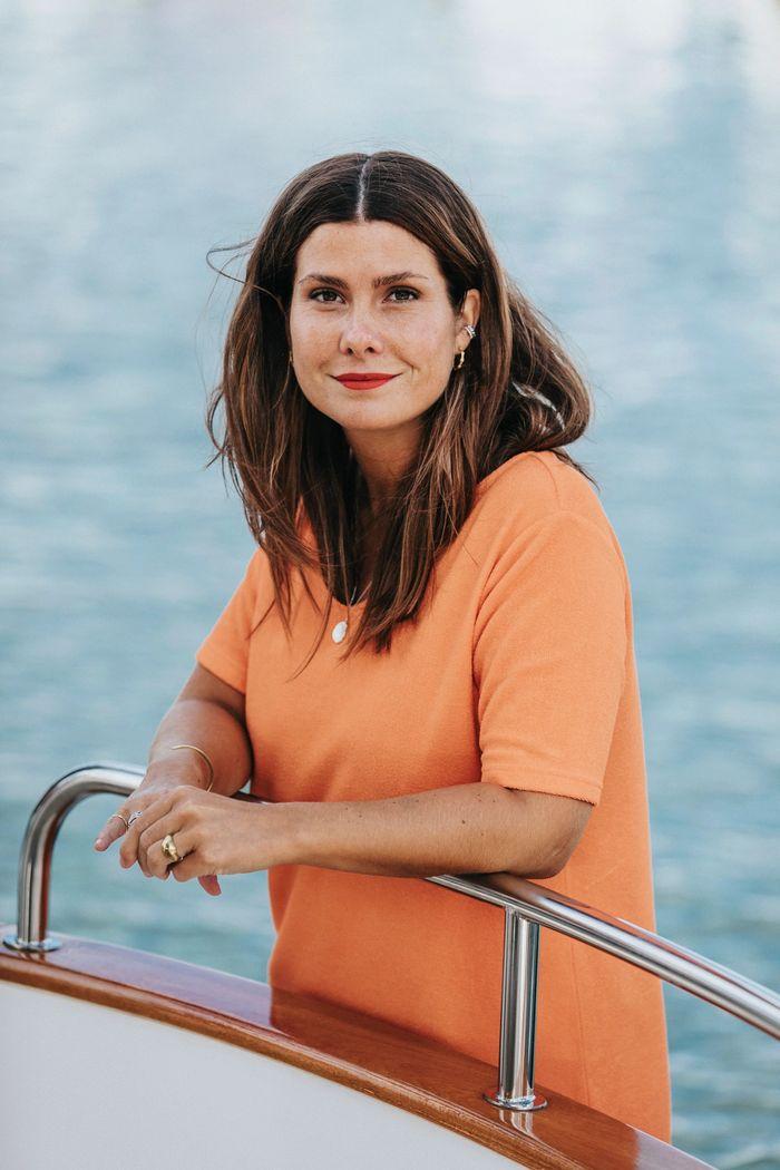 "Product image for ""Hilda Frottéklänning Orange"""