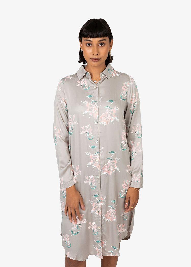"Secondary product image for ""Irma Shirt Dress Honeysuckle Mole"""