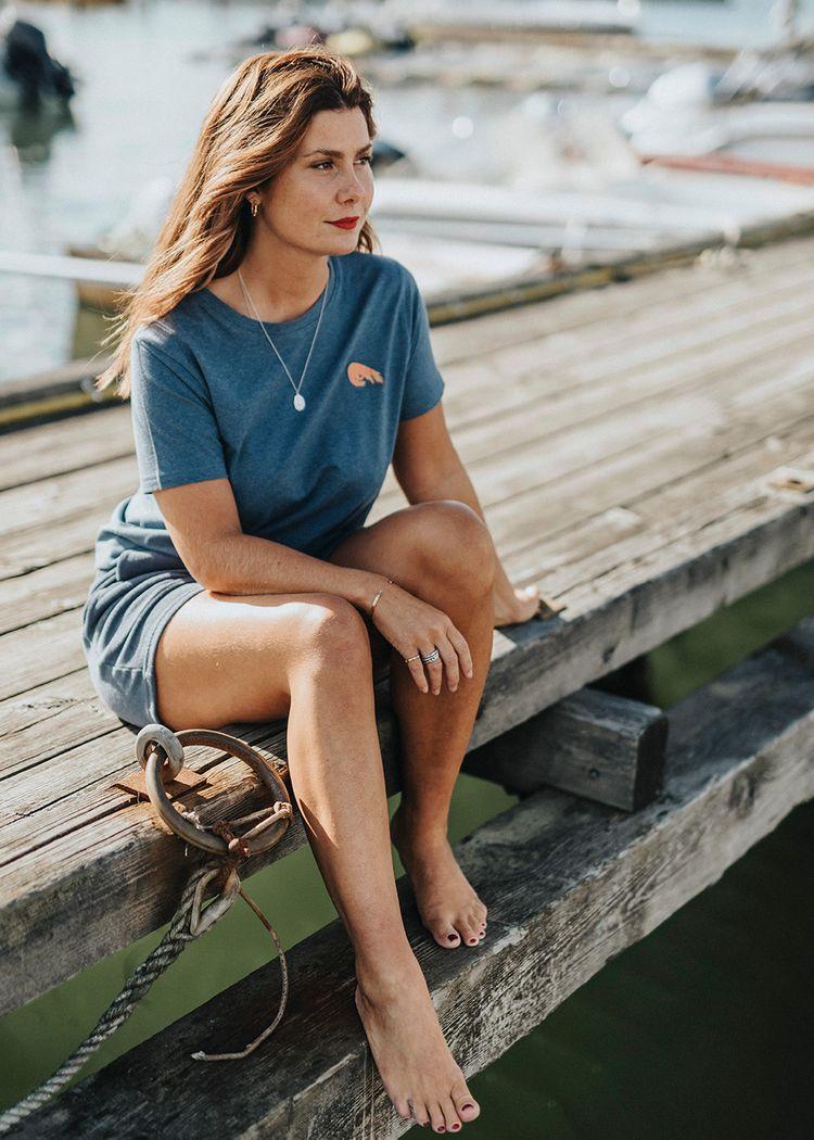 "Product image for ""T-shirt Räka Blå"""