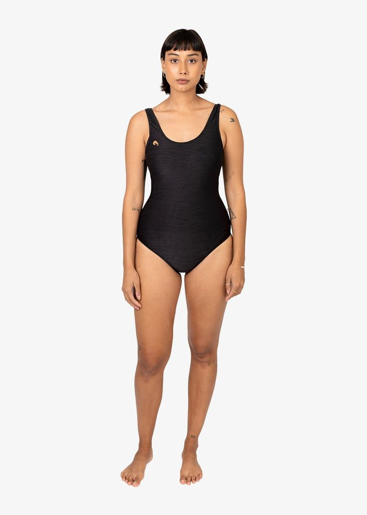 """Secondary product image for """"Lisa Swimsuit Ocean Black"""""""