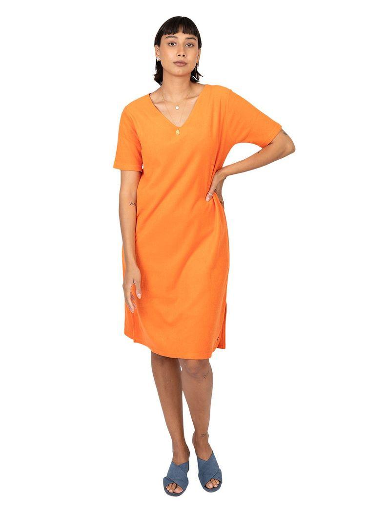 "Product image for ""Hilda Dress Terry Orange"""