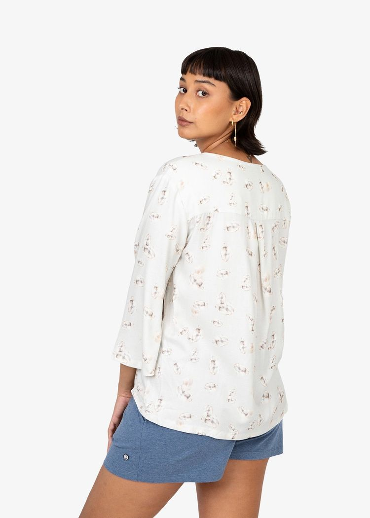 """Product image for """"Lauren Blouse Oyster"""""""