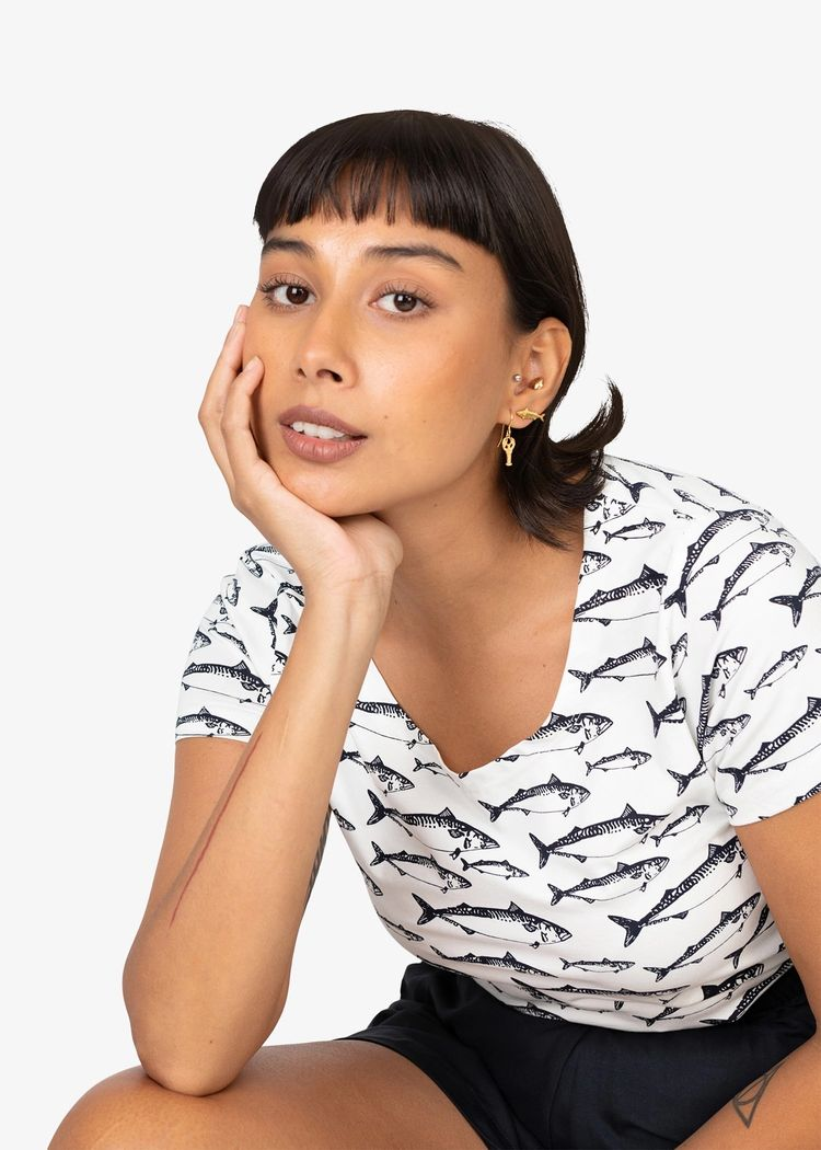 "Product image for ""Eli T-shirt Mackerel"""