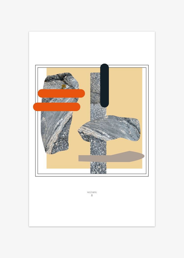 """Product image for """"Poster Berg NO.2"""""""