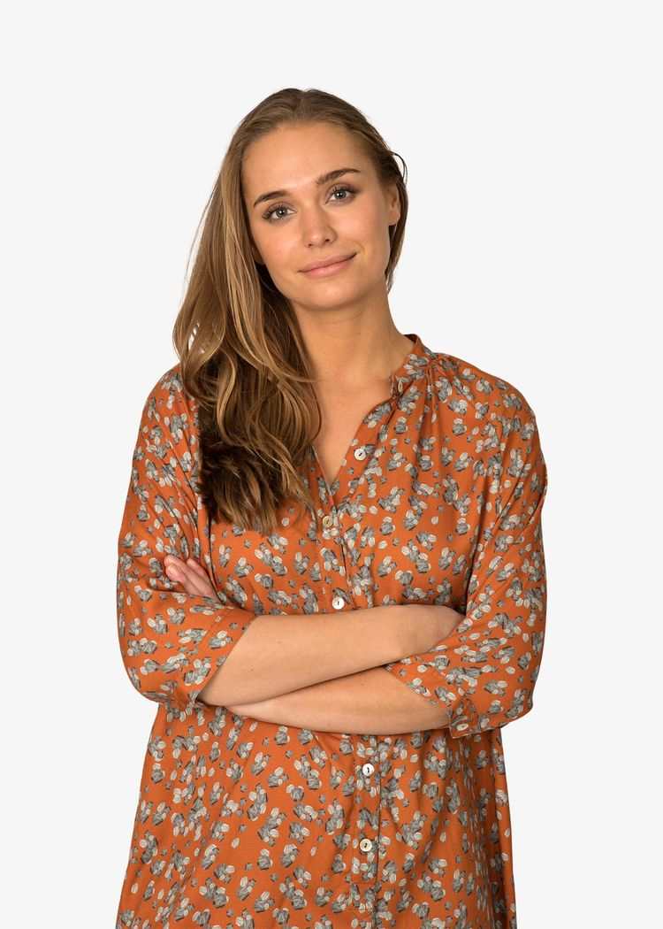 "Secondary product image for ""Marie Skjortklänning Sten Rost"""