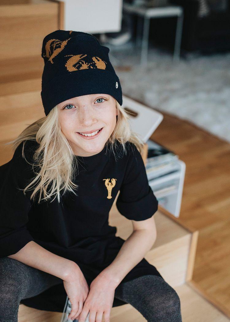 """Secondary product image for """"Jasmine Klänning Hummer Svart"""""""