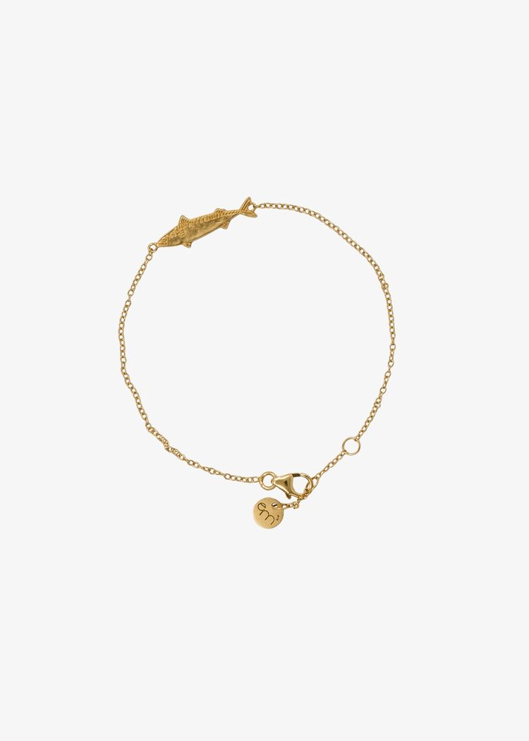 "Product image for ""Armband Makrill Guld"""