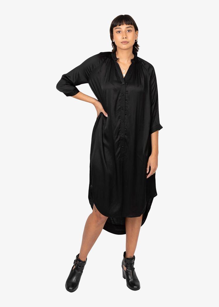 "Product image for ""Marie Skjortklänning Svart"""