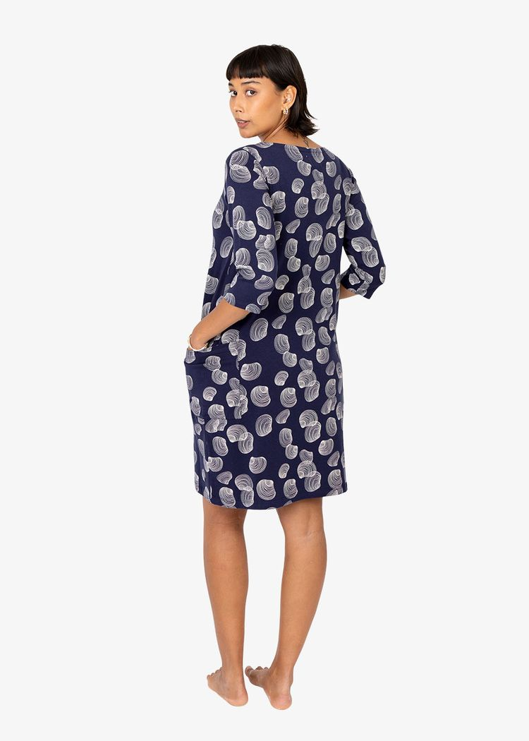 """Secondary product image for """"Mira Dress Shell Navy"""""""