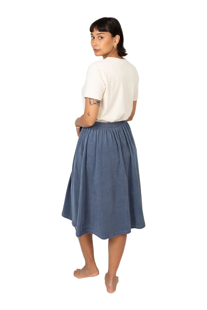 """Secondary product image for """"Tanni Skirt Terry Petrol"""""""
