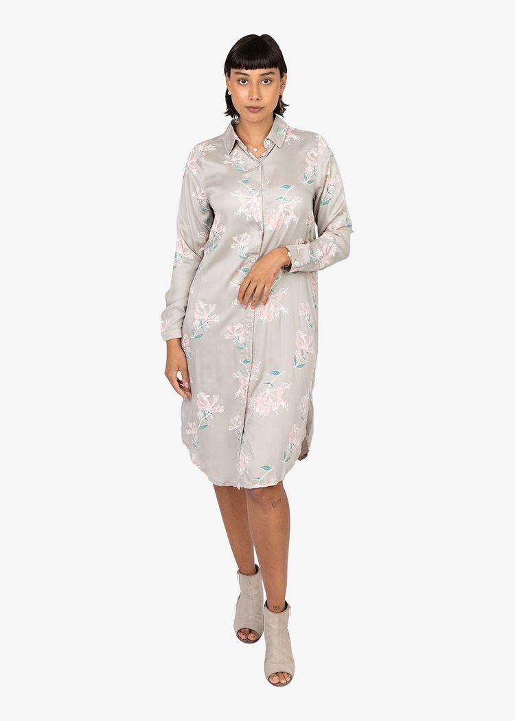 "Product image for ""Irma Shirt Dress Honeysuckle Mole"""