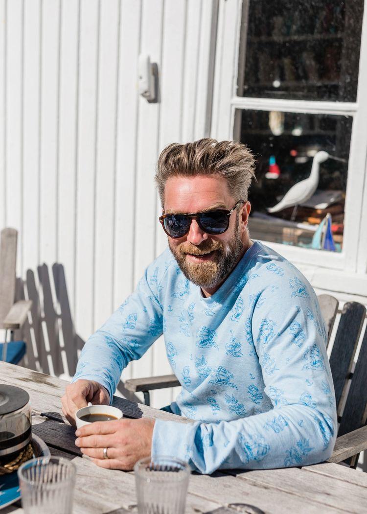 """Product image for """"Tröja Tatuering Blå"""""""