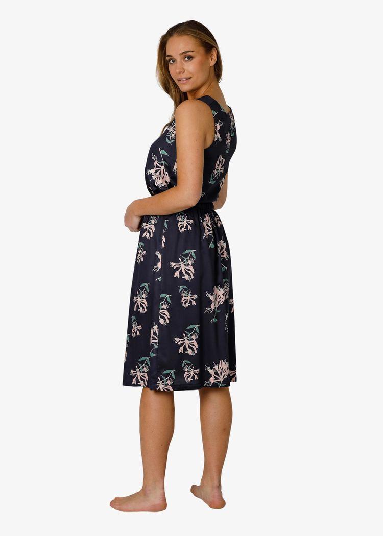 "Secondary product image for ""Taik Skirt Honeysuckle Navy"""