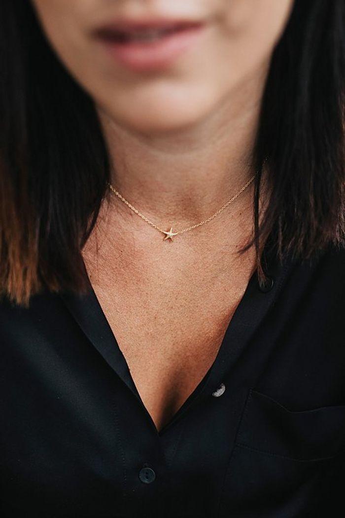 """Product image for """"Halsband Sjöstjärna Guld"""""""