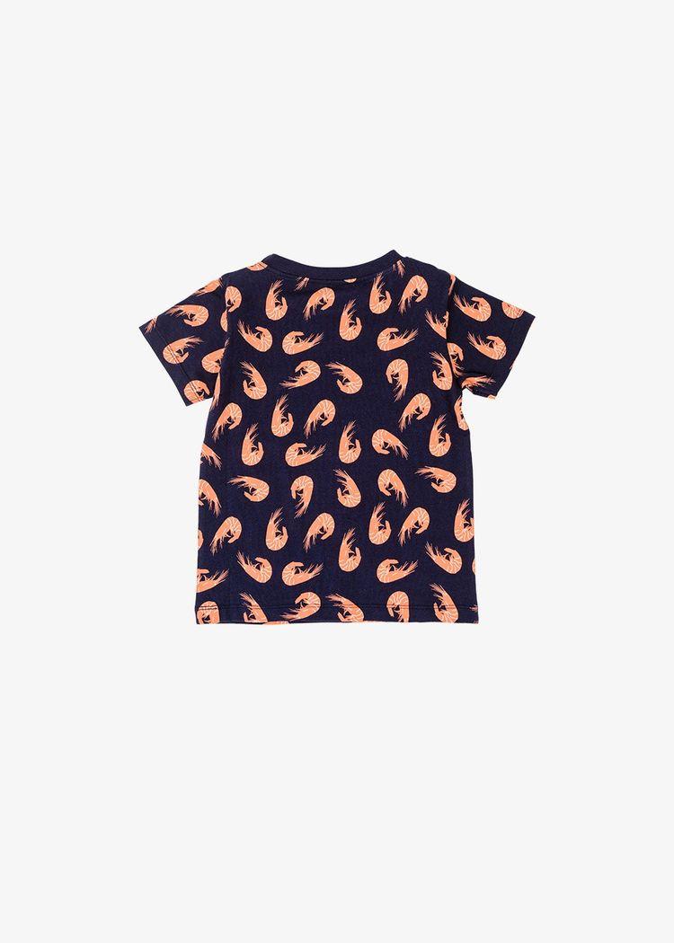 "Secondary product image for ""T-shirt Barn Räka Marinblå"""