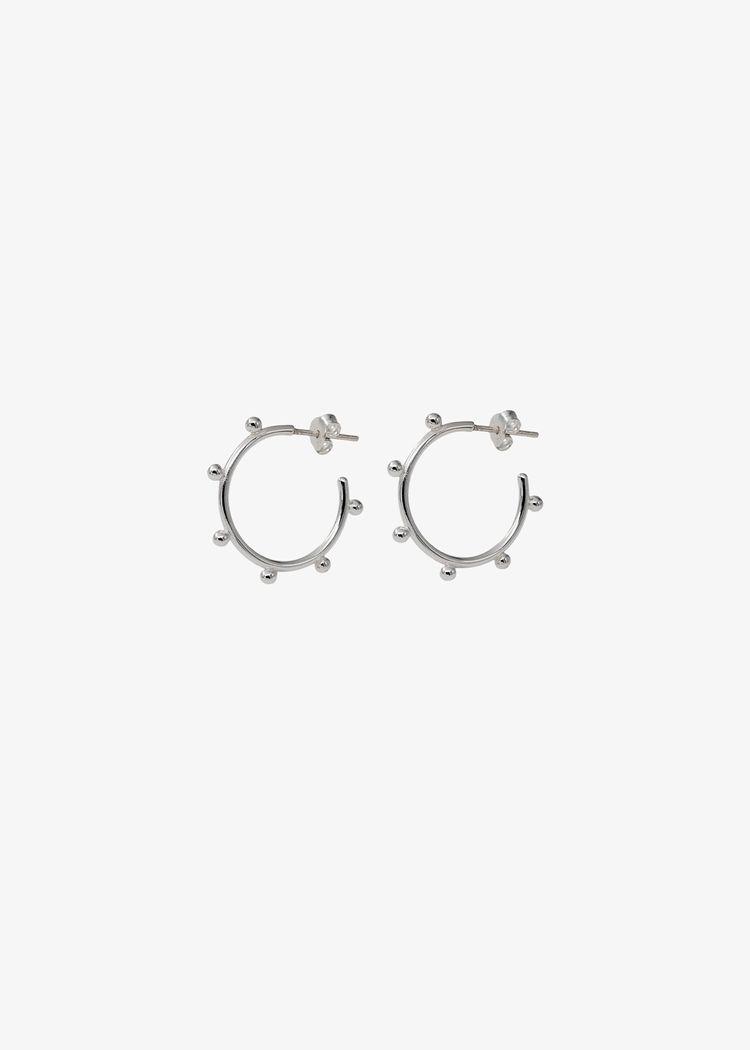 "Product image for ""Örhänge Cirkel Ploppar Silver"""