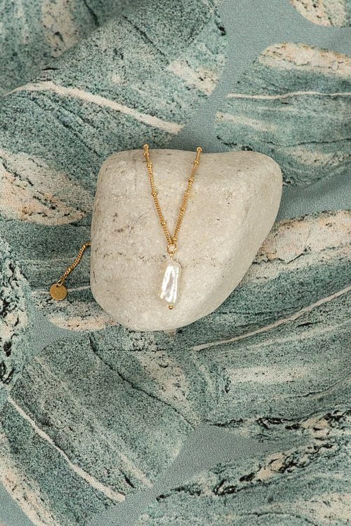 "Product image for ""Halsband Pärla Guld"""