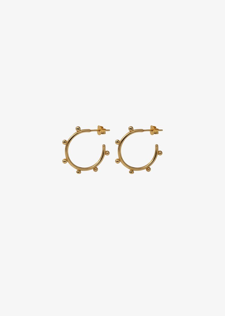 """Product image for """"Earring Beaded Hoop Gold"""""""