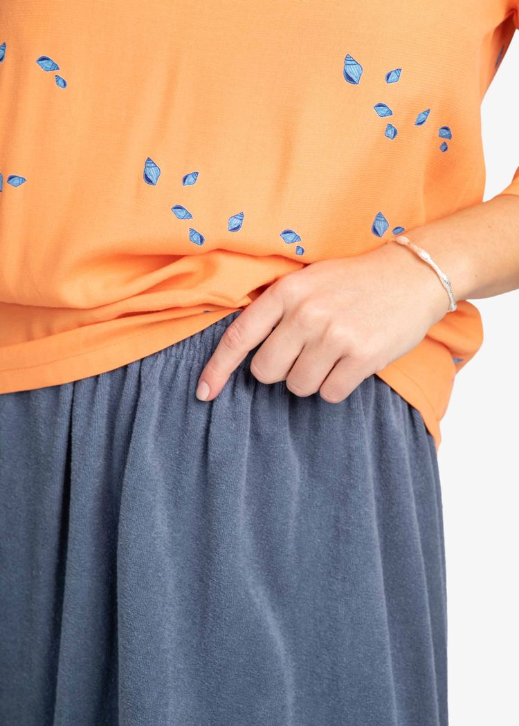 """Secondary product image for """"Laura Blouse Mini Shell Peach"""""""