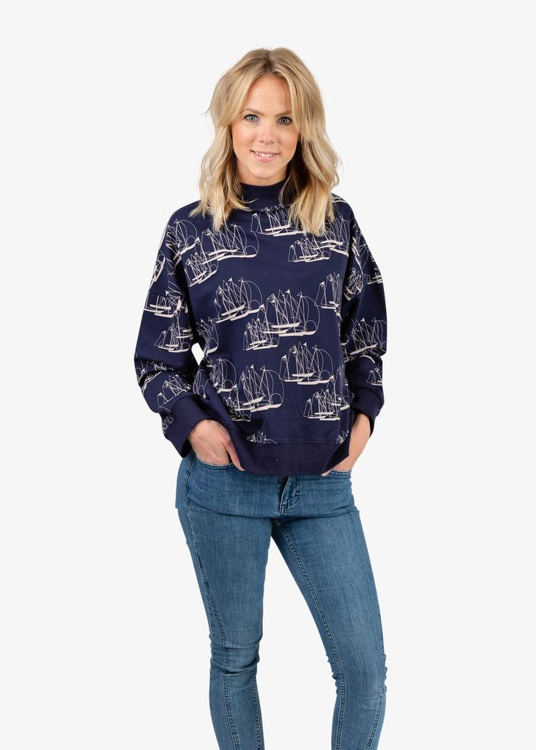 """Secondary product image for """"Wilma Sweater Linjespel"""""""