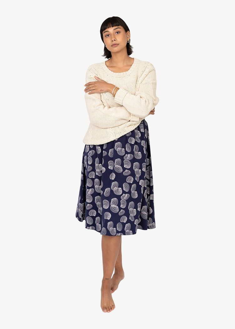 """Secondary product image for """"Taik Skirt Shell Navy"""""""